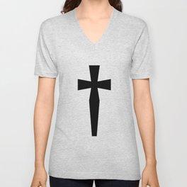 Dagger (Black & White) Unisex V-Neck