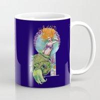 pinup Mugs featuring Mermaid Pinup by Theresa Lammon