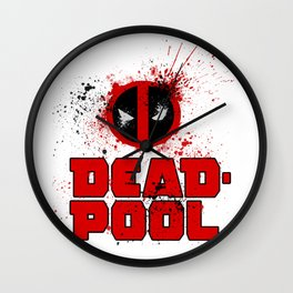 DeadPool Logo Wall Clock