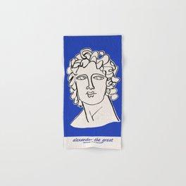Alexander the Great statue Hand & Bath Towel
