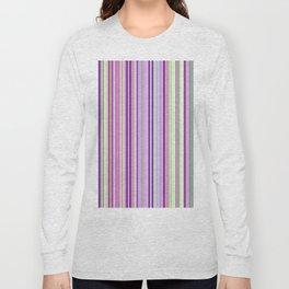 Pink Summer Stripes Long Sleeve T-shirt