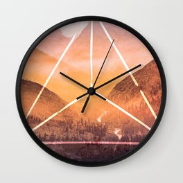 The Elements Geometric Nature Element of Fire Wall Clock