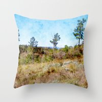tennessee Throw Pillows featuring Tennessee Wilderness by Phil Perkins
