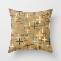 positive Throw Pillows featuring positive by Kingu Omega