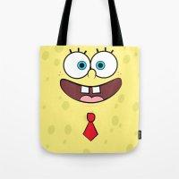 spongebob Tote Bags featuring Spongebob by JayPii