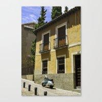 vespa Canvas Prints featuring Vespa  by ammymp