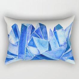 Sapphire Watercolor Facets Rectangular Pillow