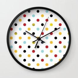 Multi Colored Dots and Glitter Wall Clock