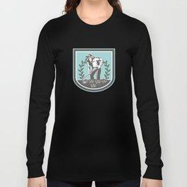 Organic Farmer Grabhoe Plant Shield Long Sleeve T-shirt
