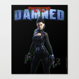 Protected by the Damned Canvas Print