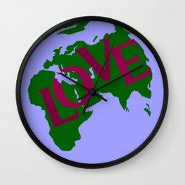 World of Love Wall Clock