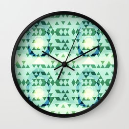 Green Tribomb Wall Clock