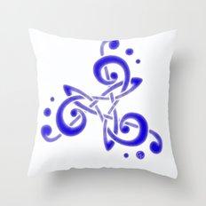 Treble Triskele Throw Pillow