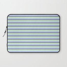 Pastel Blue Gray Seafoam stripeS. Laptop Sleeve