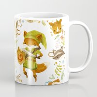 wind Mugs featuring The Legend of Zelda: Mammal's Mask by Teagan White