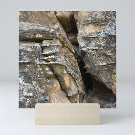 Where Ancients Walked Natural Earth Art Rock Texture Mini Art Print