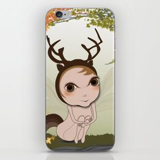 Deery Fairy under Autumn Leaves iPhone & iPod Skin