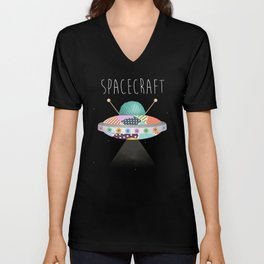 Spacecraft Unisex V-Neck
