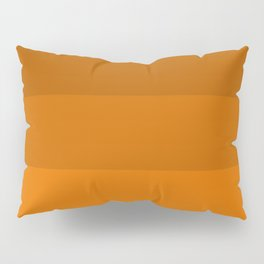 Orange Brown Stripes Pillow Sham