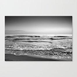Soft waves. BN Canvas Print