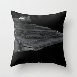 Star Wars Star Destroyer Imperial Forces render spaceship science fiction 3D digital fractalsponge Throw Pillow