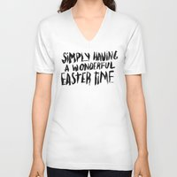 snl V-neck T-shirts featuring EASTERTIME by Josh LaFayette