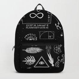 Dark Grid Work Backpack