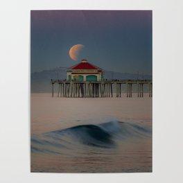 2018 Super Blue Moon Lunar Eclipse Poster