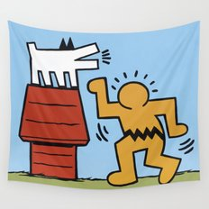 Keith Haring + Charles Schulz Wall Tapestry