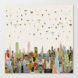 the great wondrous balloon race Canvas Print