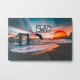 Swag Whale Metal Print