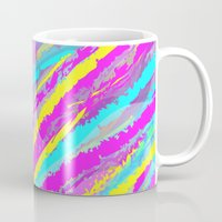 the strokes Mugs featuring Colorful strokes. by Pinkpulp