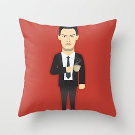 Watching The Detectives #3: Portrait Throw Pillow