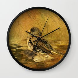 The Bathing Junco Wall Clock
