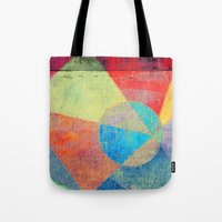 volleyball Tote Bags featuring Beach Volleyball by Fernando Vieira