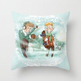 SNOW WINTER Throw Pillow