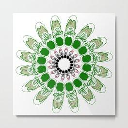 Shoe Flower Metal Print