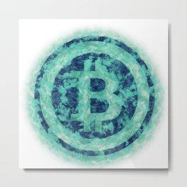 Bitcoin logo Metal Print