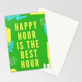 happy hour is the best hour Stationery Cards