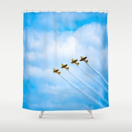 aircraft vintage airplanes aviation Shower Curtain