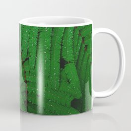 Layers Of Wet Green Fern Leaves Patterns In Nature Coffee Mug
