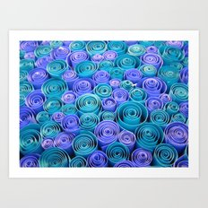 Sea of Blue Swirls Art Print