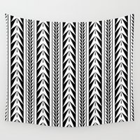 moroccan Wall Tapestries featuring Moroccan Stripes by Caitlin Workman