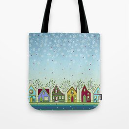 Doodle Houses Tote Bag