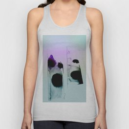 Ink On Pastel Mint Unisex Tank Top