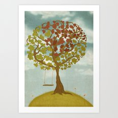 All Seasons Tree Art Print