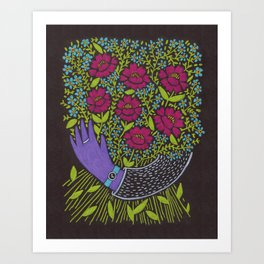 I Picked You These Flowers Art Print