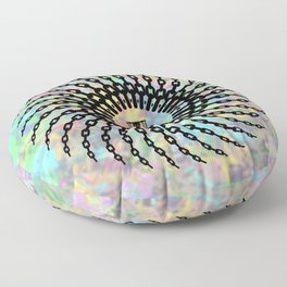Disc Golf Basket Chains Floor Pillow