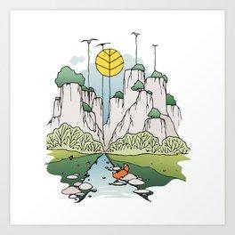 Fox river Art Print