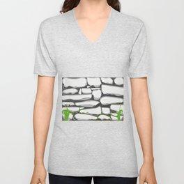 Grey Stone Wall Unisex V-Neck